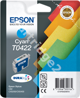 Original Epson ink cartridge cyan C13T04224010 T0422