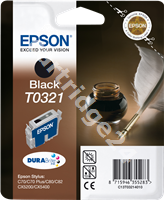 Original Epson ink cartridge black C13T03214010 T0321