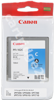 Original Canon ink cartridge cyan PFI-102c 0896B001