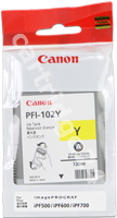 Original Canon ink cartridge yellow PFI-102y 0898B001