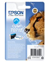 Original Epson ink cartridge cyan C13T07124011 T0712