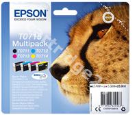 Original Epson multipack bk/c/m/y C13T07154010 T0715