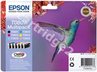 Original Epson multipack bk/lc/c/lm/m/y C13T08074011 T0807