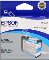Original Epson ink cartridge cyan C13T580200 T5802