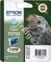 Original Epson ink cartridge cyan (light) C13T07954010 T0795