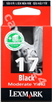 Original Lexmark ink cartridge black 10NX217E 17