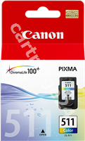 Original Canon ink cartridge colour CL-511 2972B001