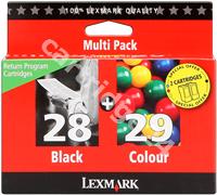 Original Lexmark multipack black + colour 18C1520E 28+29