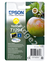 Original Epson ink cartridge yellow C13T12944011 T1294