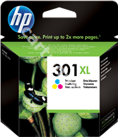 Original HP ink cartridge colour CH564EE 301 XL