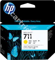Original HP ink cartridge yellow CZ136A 711
