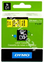 Original DYMO tape black on yellow S0720980 53718