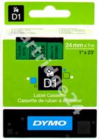 Original DYMO tape black on green S0720990 53719